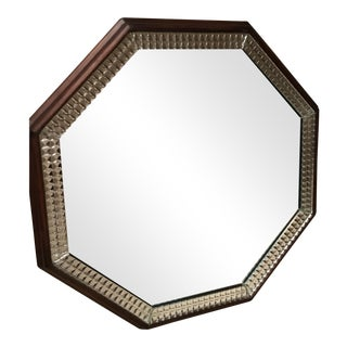 Wood Framed Hexagonal Mirror