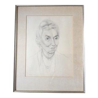 1931 Framed Sketched Portrait