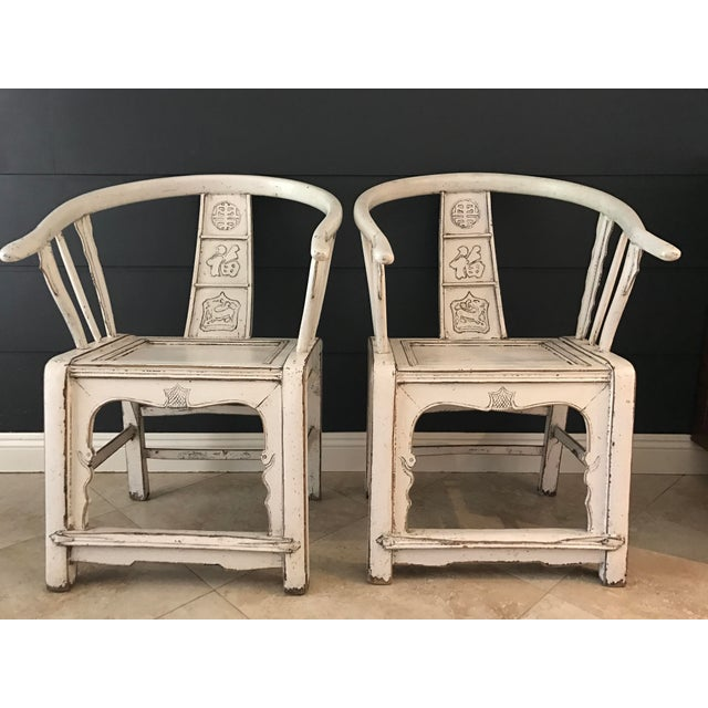 Image of White Ming Side Chairs - A Pair