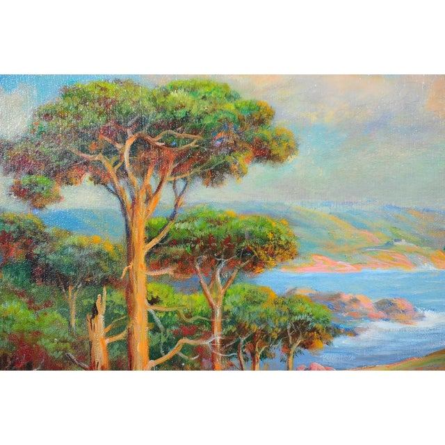 1935 Andreas Roth Carmel Coastline Oil Painting - Image 3 of 9