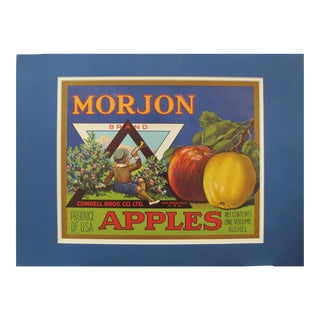 1940s American Apple Fruit Crate Label, Morjon