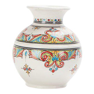 Moroccan Multicolor Handcrafted Ceramic Vase