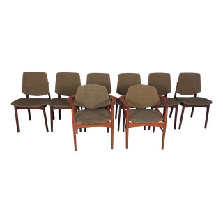 Hovmand Olsen Mid-Century Teak Dining Chairs - Set of 8