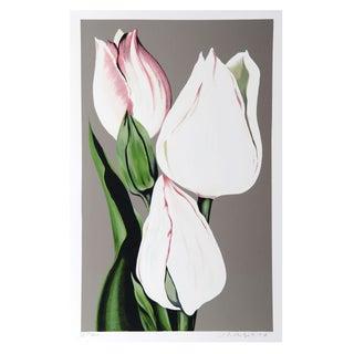 Lowell Blair Nesbitt - White Tulips Serigraph