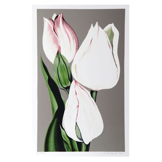 Lowell Blair Nesbitt - White Tulips Serigraph