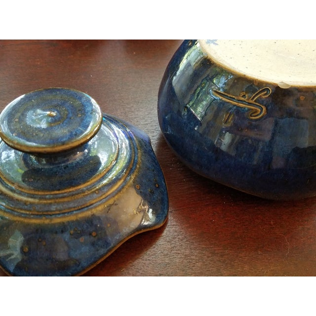 Image of Saint Amand en Puisaye Les Bleus Condiment Set