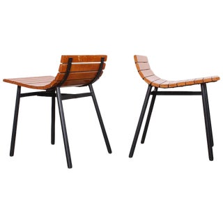 Pair of Slat Stools by Vista of California