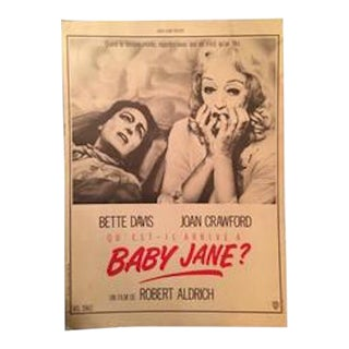 """1962 French """"Whatever Happened to Baby Jane"""" Movie Poster"""