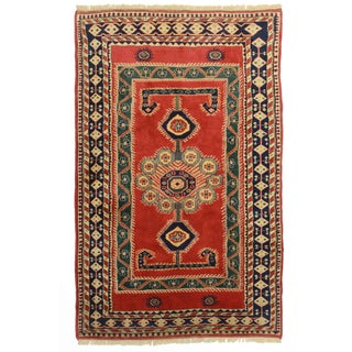 RugsinDallas Hand Knotted Wool Turkish Rug - 5′3″ × 8′4″