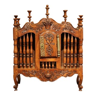 Mid-19th Century French Louis XV Carved Walnut Panetiere