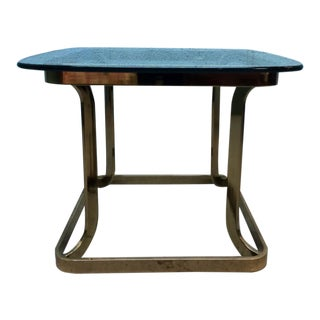 Milo Baughman Style Brass Side Table