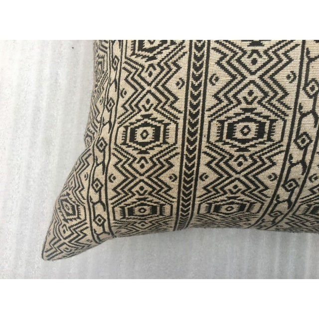 Black & White Tribal Textile Pillow - Image 3 of 4