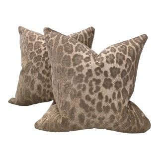 Cowtan & Tout Epingle Jaguar Velvet Pillows - A Pair