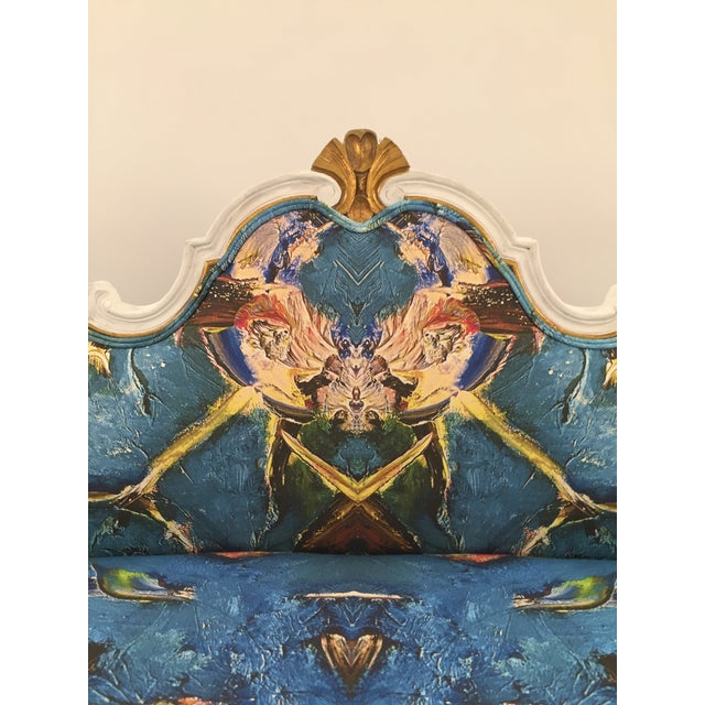 Antique French Louis XV Style Restored Settee - Image 5 of 11