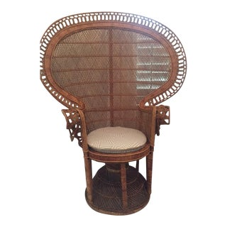 Rattan Bohemian Peacock Wicker Chair