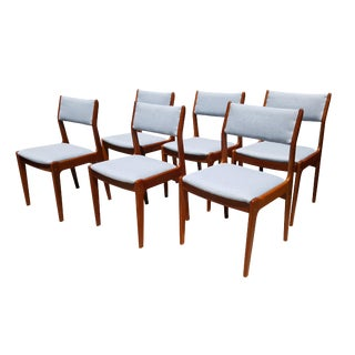 Danish Mid-Century Modern Teak Dining Chairs - Set of 6