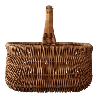 Vintage Handled Basket