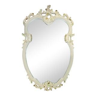 Painted Rococo Mirror