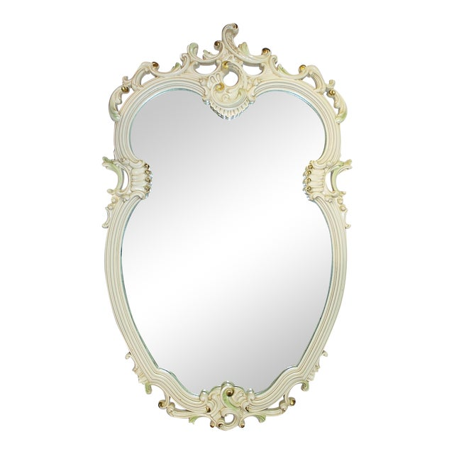 Painted rococo mirror chairish for Baroque resin mirror