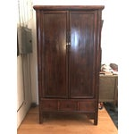 Image of Asian Wooden Armoire Cabinet