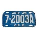 Image of Arizona Az 1945 License Plate