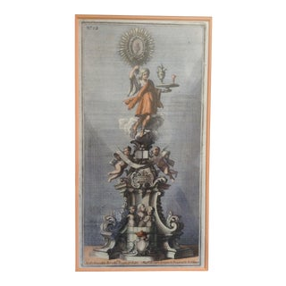 18th C. Colored Etching of Roman Ornaments