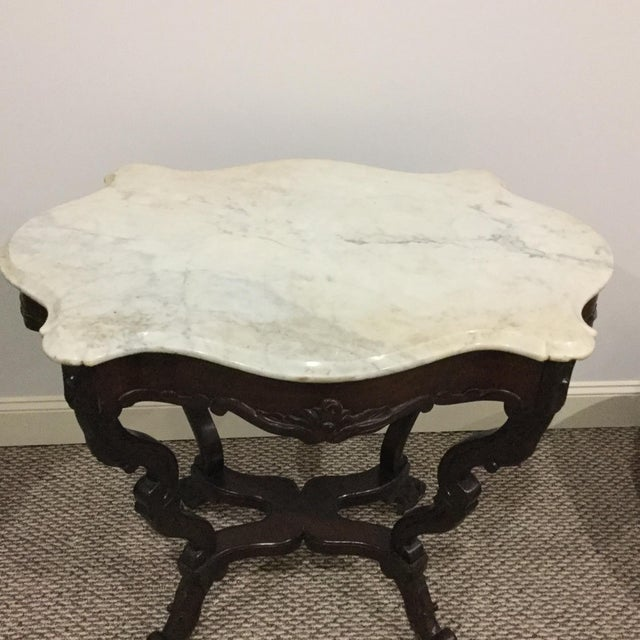 Antique Marble Top Center Table - Image 5 of 7