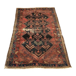 """Persian Antique 1880's Malayer Rug - 3'8"""" x 5'9"""""""