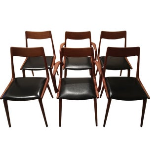 Erik Christensen Teak Dining Chairs- Set of 6