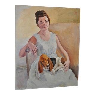 "Adrien Dupagne ""Lady with Beagle"" c.1964"