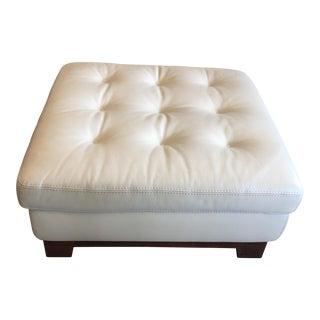 Roche Bobois White Leather Ottoman