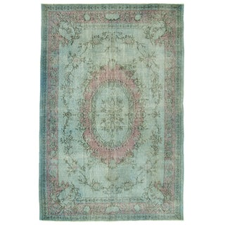 "Vintage Distressed Turkish Rug - 6'5"" X 9'7"""