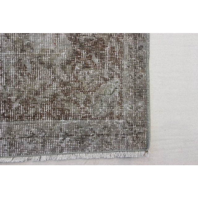 "Gray Turkish Overdyed Rug - 5'7"" X 9'5"" - Image 8 of 9"