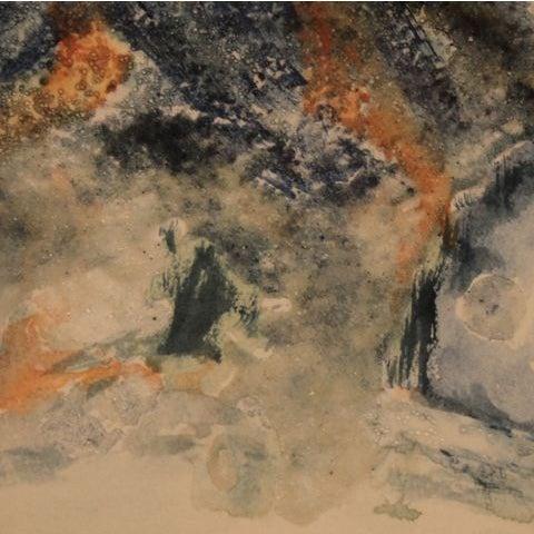 "Mixed Media Artwork - ""Erupting Volcano"" - Image 4 of 6"