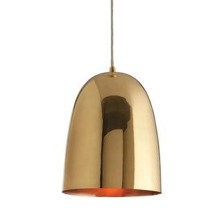 Brass Dome Pendants - A Pair