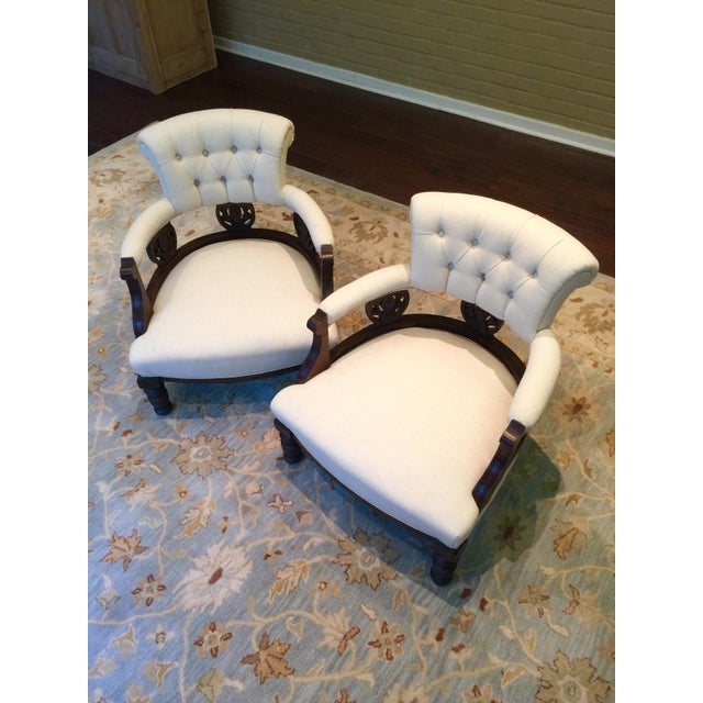 Antique Victorian Tub Chairs - Image 9 of 11