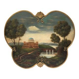 Antique European Oil Landscape Painting