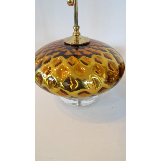 Vintage Gold Mercury Murano Glass Lamps - A Pair - Image 4 of 7