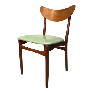 Mid-Century Modern Teal Danish Dining Chair
