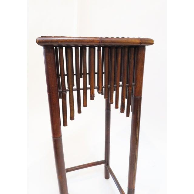 Dark Brown Bamboo Pedestal - Image 5 of 7