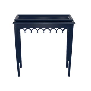 Tini Newport Table by Oomph, Lacquered New York Blue