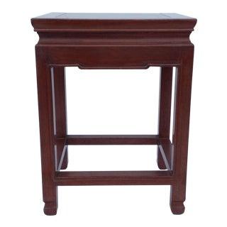Asian Oak Low Occasional Side Table