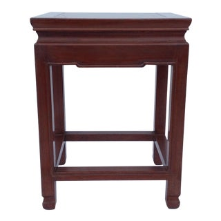 Asian Oak Low Occasional Side Table