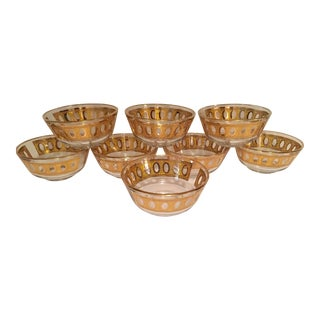Culver Antigua 22k Gold Dessert Bowls - Set of 8