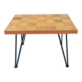 Vintage Iron Legged End Table