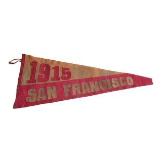 Original 1915's Suede San Francisco Pennant