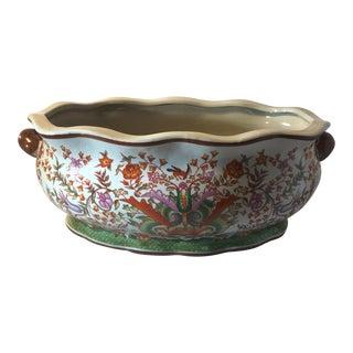 Floral Chinese Porcelain Footbath