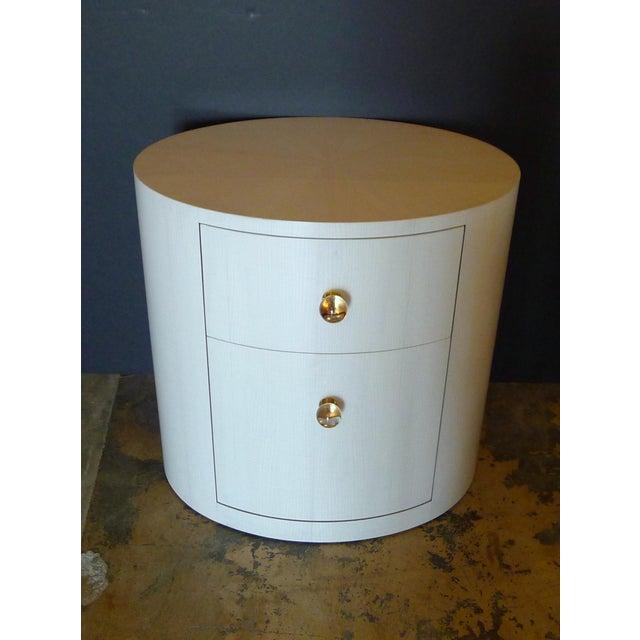 Italian-Inspired 1970S Style Oval Nightstand - Image 6 of 8
