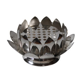 Leonard Silver-Plated Lotus Flower Frog Bowl