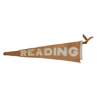 Antique Reading Felt Flag Pennant Banner
